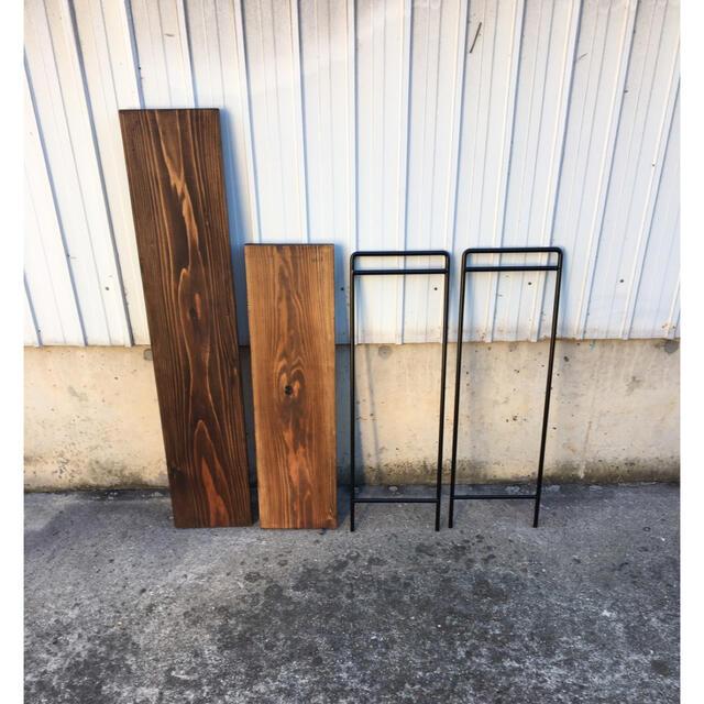 アイアン ラック 板2枚付 インテリア/住まい/日用品の机/テーブル(アウトドアテーブル)の商品写真