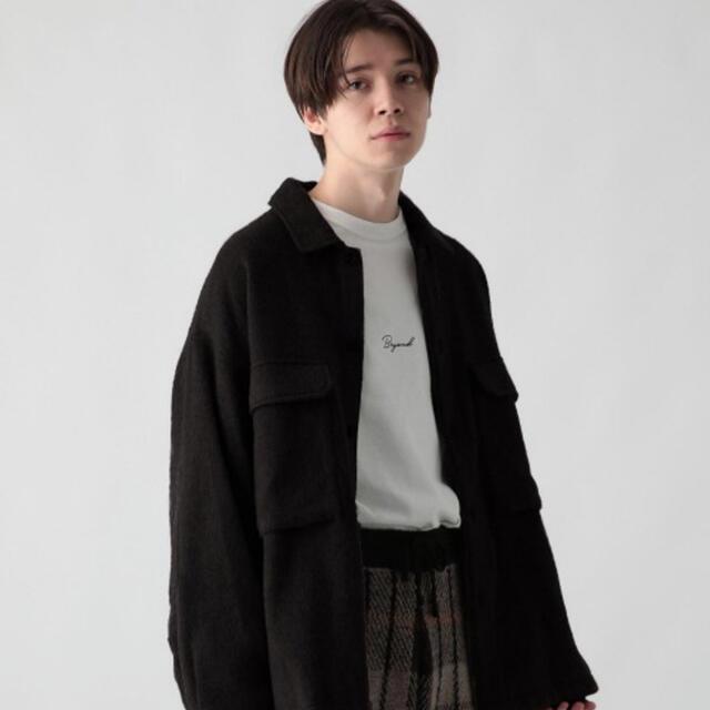 HARE(ハレ)のBIGウールキモウCPOシャツ(HARE) メンズのジャケット/アウター(ブルゾン)の商品写真