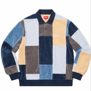 Supreme - supreme patchwork velour l/s polo