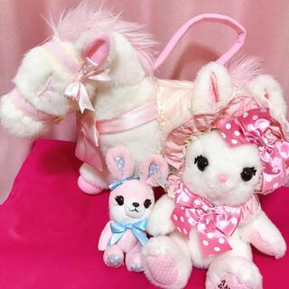 アンジェリックプリティー(Angelic Pretty)のMilky Pony バッグ、リリカルバニーぬいぐるみポーチ、ストラップセット(ショルダーバッグ)
