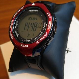 セイコー(SEIKO)のSEIKOセイコー PROSPEX ALPINIST SBEB003 レッド(腕時計(デジタル))