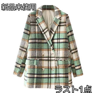 ザラ(ZARA)のコート チェックコート 未使用 冬服 秋服 韓国 ZARA(チェスターコート)