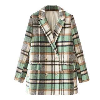 ミラオーウェン(Mila Owen)のコート チェックコート 新品 冬服 秋服 韓国 韓国服 ミラオーウェン(ピーコート)