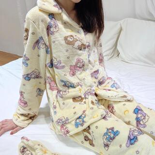 日本未発売 ダッフィーフレンズ パジャマ ルームウェア アイマスク付き Lサイズ