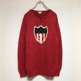 ジェイプレス(J.PRESS)の古着 vintage ニット J.PRESS 星条旗 レッド DAIRIKU(ニット/セーター)