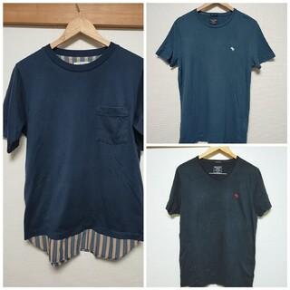 アバクロンビーアンドフィッチ(Abercrombie&Fitch)のメンズTシャツ3点セット アバクロ グローバルワーク(Tシャツ/カットソー(半袖/袖なし))