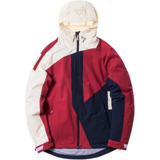 シュプリーム(Supreme)のkith madison jacket Navy Red off white S(ナイロンジャケット)