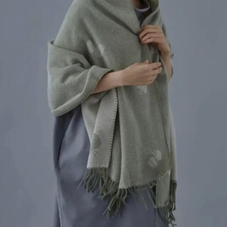 mina perhonen - CHOUCHO ストール × KLIPPAN  ミナペルホネン人気のgreen