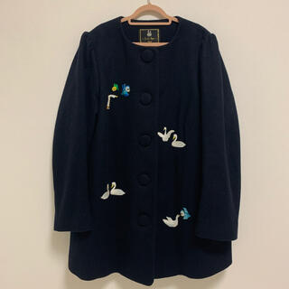 フランシュリッペ(franche lippee)のフランシュリッペ  刺繍コート ビーズ fl5(ロングコート)