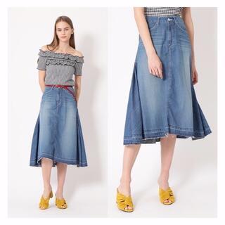 JILLSTUART - Woad blue × JILLSTUARTコラボデニムスカート★ウォードブルー