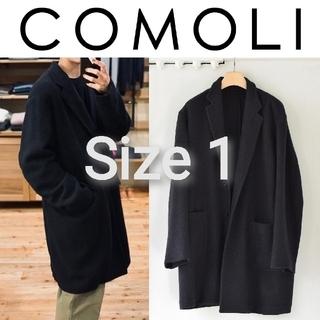 コモリ(COMOLI)の新品■20AW COMOLI カシミヤチェスターコート 1 ネイビー カシミア(チェスターコート)