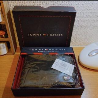 トミーヒルフィガー(TOMMY HILFIGER)の【正規品 未使用品】トミーヒルフィガー 折財布 ブラック メンズ(折り財布)
