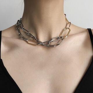 アメリヴィンテージ(Ameri VINTAGE)の【NEW】新品インポート♡チェーン シルバー ゴールド ネックレス チョーカー(ネックレス)