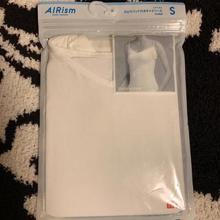 UNIQLO - 新品未使用 ユニクロ エアリズム 汗とりパッド付きキャミソールS 白