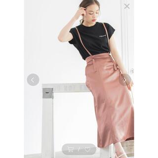 heather - 【新品】ヘザー/サスペンダー付きサテンスカート*°