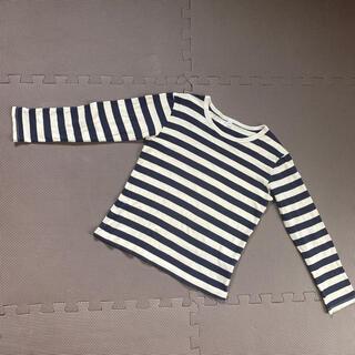 MUJI (無印良品) - 無印良品 ロンT ボーダーシャツ 140