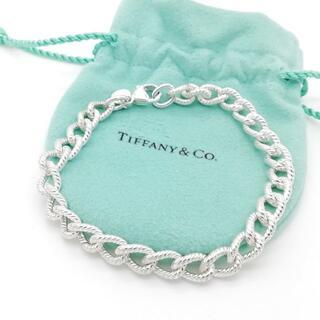 Tiffany & Co. - 希少 美品 ティファニー スクリュー ロープ チェーン ブレスレット NK15