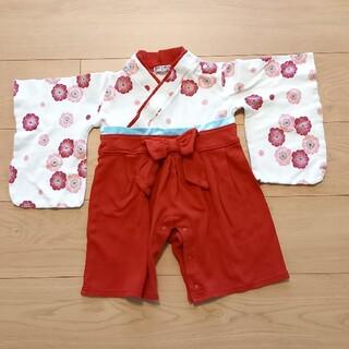 ベルメゾン(ベルメゾン)の袴ロンパース 80 女の子(和服/着物)