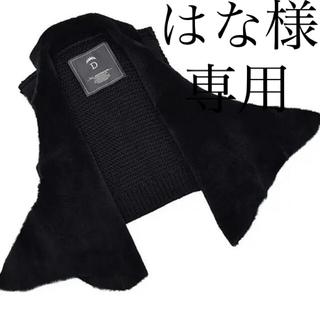 ダブルスタンダードクロージング(DOUBLE STANDARD CLOTHING)のdouble standard  Sov.羊革ダブルフェイスムートンベスト黒 (ベスト/ジレ)