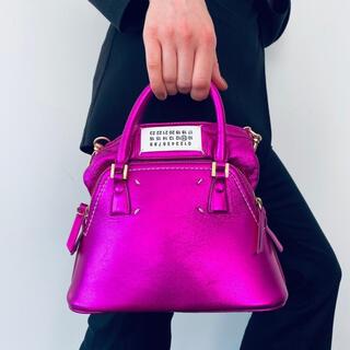 マルタンマルジェラ(Maison Martin Margiela)の美品 Maison Margiela マルジェラ 5AC ハンドバッグ ピンク(ハンドバッグ)