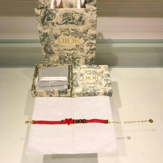 Dior - クリスチャンディオール  dior  ブレスレット  レッド
