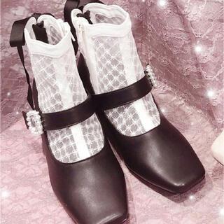 スワンキス(Swankiss)のswankiss 量産系 地雷系 ゆめかわ  黒ブーツ(ブーツ)