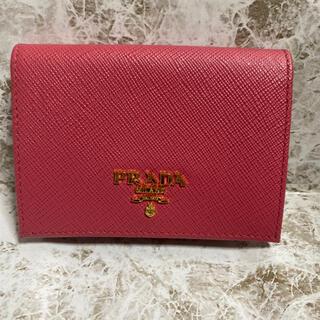 プラダ(PRADA)のプラダ PRADA カードケース サフィアーノ ピンク パスケース 定期入れ(名刺入れ/定期入れ)