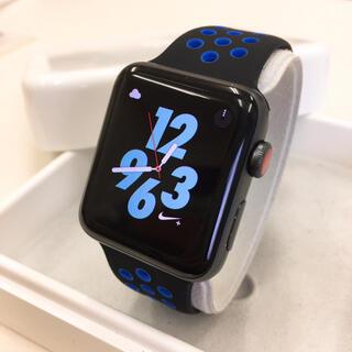 アップルウォッチ(Apple Watch)のApple Watch シリーズ3 NIKE セルラー 42mm 黒(その他)