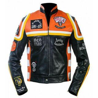 ハーレーダビッドソン(Harley Davidson)の新品☆ハーレーダビッドソン&マルボロマン☆レザーライダースジャケット☆サイズ有(ライダースジャケット)