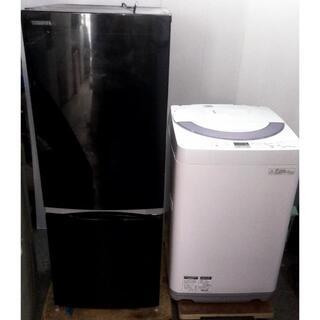 トウシバ(東芝)の生活家電セット 冷蔵庫 少し大きめ153L 洗濯機 シャープ(冷蔵庫)