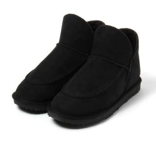 スタディオクリップ(STUDIO CLIP)のスタジオクリップ 撥水ムートンブーツ ブラック L 24-24.5(ブーツ)