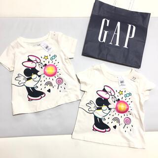 babyGAP - 新品 未使用 タグ付き 2枚セット ミニー Tシャツ 80 双子