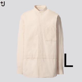 ユニクロ(UNIQLO)のUNIQRO +J スーピマコットン  オーバーサイズシャツ スタンドカラー(シャツ)