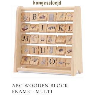 こどもビームス - kongessloejd  ABC WOODEN BLOCK FLAME