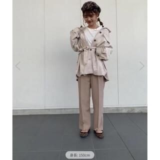 ヴィス(ViS)の【EASY CARE】裾スリットストレートパンツ(カジュアルパンツ)