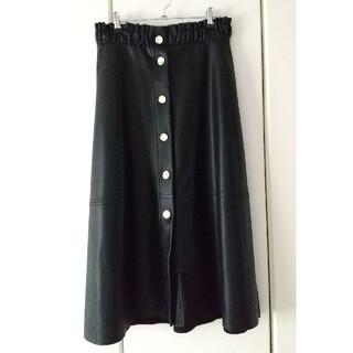ZARA - ZARA フェイクレザースカート ブラック