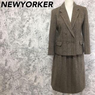 ニューヨーカー(NEWYORKER)のニューヨーカー スカート ジャケット セットアップスーツ チェック柄(スーツ)