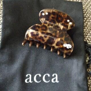アッカ(acca)の新品 アッカ クリップ ダブルドッツ(バレッタ/ヘアクリップ)