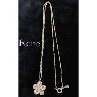 ルネ(René)の★気まぐれ値下げ★Rene/ルネ !美品!スワロフスキー お花ネックレス(ネックレス)