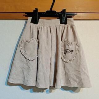 アンクルージュ(Ank Rouge)のAnk Rouge リボン付き ハートエプロンスカート(ひざ丈スカート)