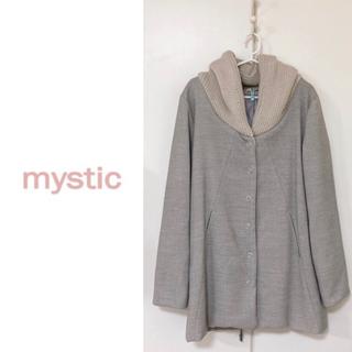 ミスティック(mystic)のmystic▶︎フードリブコート/ライトグレー(ロングコート)