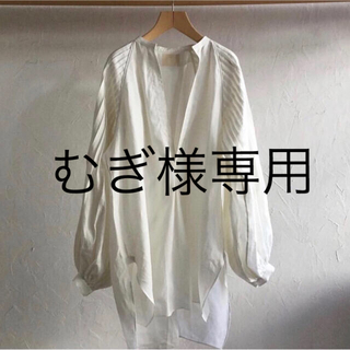 junmikami  linen tuck sleeve blouse (シャツ/ブラウス(長袖/七分))