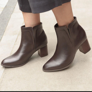 レプシィム(LEPSIM)のLEPSIM サイドゴアヒールブーツ ブラウン Lサイズ(ブーツ)