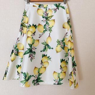 ミリオンカラッツ(Million Carats)の【値下げしました】 Million Carats レモン柄スカート(ひざ丈スカート)