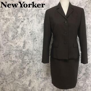 ニューヨーカー(NEWYORKER)のシルク混 ニューヨーカー タイトスカート ジャケット セットアップスーツ M相当(スーツ)