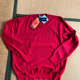 マンシングウェア(Munsingwear)のMunsingwear/マンシング セーター レッド 新品(ニット/セーター)