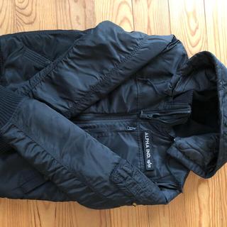 アルファインダストリーズ(ALPHA INDUSTRIES)のALPHA INDSTRIES社製 フーデットリブジャケット 黒  (ミリタリージャケット)