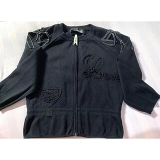 モスキーノ(MOSCHINO)のLOVE MOSCHINO ラブモスキーノ カーディガン M 黒 イタリア製美品(カーディガン)