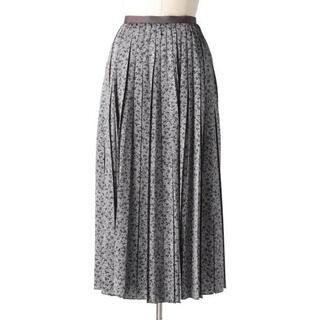 Drawer - 《新品未使用》Drawer シルクサテンプリントプリーツスカート