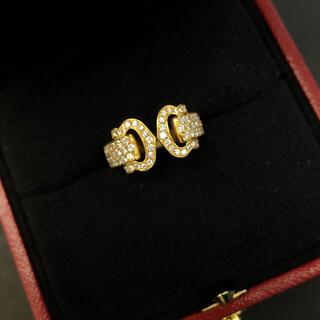 カルティエ(Cartier)の希少展示品!カルティエ 2C ブークルサイドダイヤリング(リング(指輪))